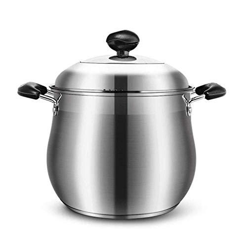 Crisol de guisado inferior sopa espesa la olla antiadherente Pan Pot sopa de cocina de gas general Multi-spec lucar (Size : 24x21.5cm)