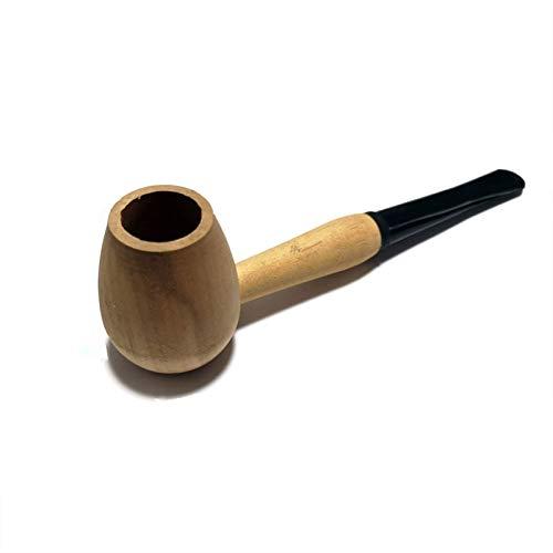 CUzzhtzy Holztabakpfeifen, Werkzeug-Rohr mit Holzgriff, gerade Winkel Rohr, geeignet for Anfänger Geschenk