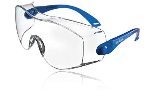 Dräger Schutzbrille X-pect 8120 | Einstellbare Überbrille auch für Brillenträger | Für Baustelle, Labor, Werkstatt und Fahrrad-Fahren | Leicht, klar und kratzfest | 1 St.