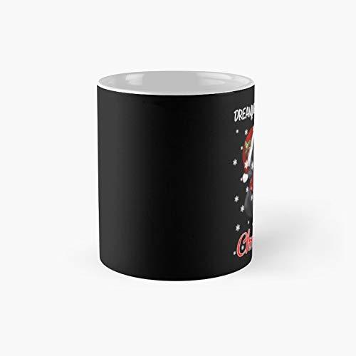 Taza clsica con diseo de perro salchicha, gorro de Pap Noel, Corgmas de Navidad, taza clsica | El mejor regalo divertido tazas de caf de 325 ml