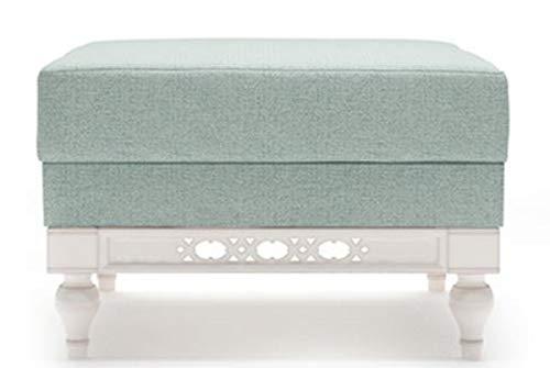 Casa Padrino Jugendstil Hocker Mintgrün/Weiß 62 x 62 x H. 47 cm Qualität