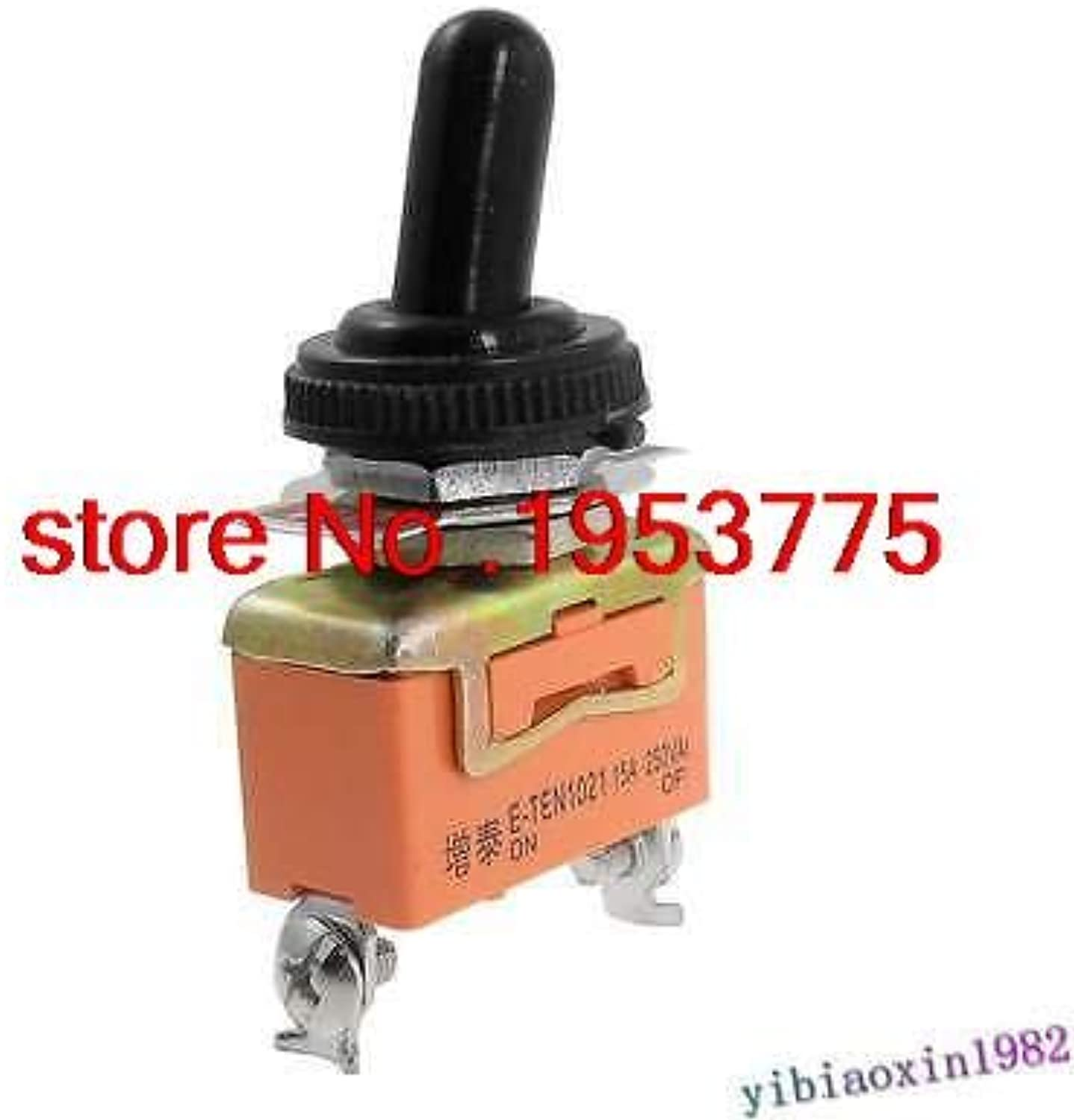 10pcs AC 250V 15A ON Off 2 Position SPST Toggle Switch with Waterproof Boot