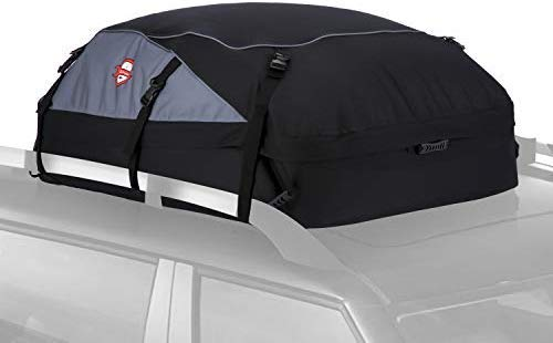 Znrong 20 Cubic Feet Waterproof Car Top Carrier- Roof Cargo Bag Box Easy to Install Soft Rooftop Luggage Carriers with Wide Straps, Best for Traveling, Cars, Vans, SUVs (51 39 17 inch)