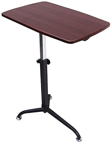 Mesa de centro Mesas laterales de la cabecera Mesa de café de altura ajustable elevable triangular soporte MDF Material de soporte del escritorio de fácil montaje extraíble portátil bandeja Tablas de
