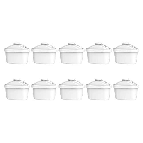 Maxblue Pack 10 TÜV SÜD, NSF Zertifizierte Krug Wasserfilter, Passend für Brita Maxtra+, Brita Style, Brita Fun, Merella Cool, Mavea Elemaris XL und Brita Flow Wassertank