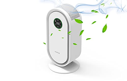 VENTUS Purificador de Aire con Filtro HEPA + Carbón Activo | LUZ UV | GERMICIDA | Control inteligente con pantalla táctil.