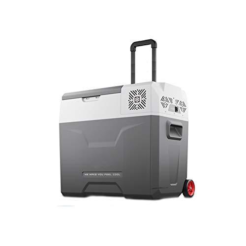 JIE. Auto Kühlschrank Kältekompressor Auto Dual-Use-12V / 24V / 220V Geschwindigkeit Gefrierschrank Kälte Bequem Trolley Kleine Gefrierschrank,50L