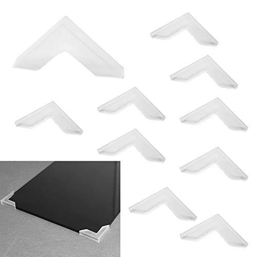 Zaky - Protector de bordes de mesa para esquinas de cristal y espejo (20 unidades) (6 x 63 mm)