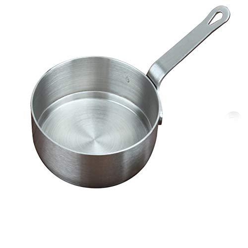 ZYJ Edelstahl tragbare Milch mit Griff Geschirr, Western Sauce Sauce Tasse Tomatensauce Gericht Küche erhitzte Kaffeekanne mit Griff, Suppentopf,S