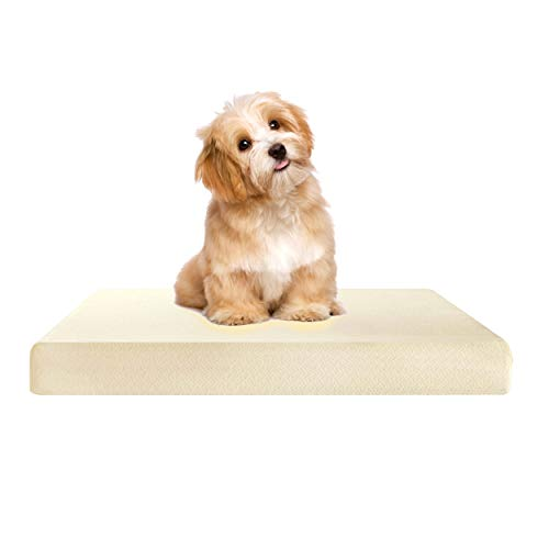 HANSON AND LANGFORD 100% Visco Elastic Cool Gel Memory Foam Off-Cut for Dog Beds and Cushions Certified Foam Supportive, Pressure Relief Temperature Sensitive & Pain Relief (40 x 27 x 2)