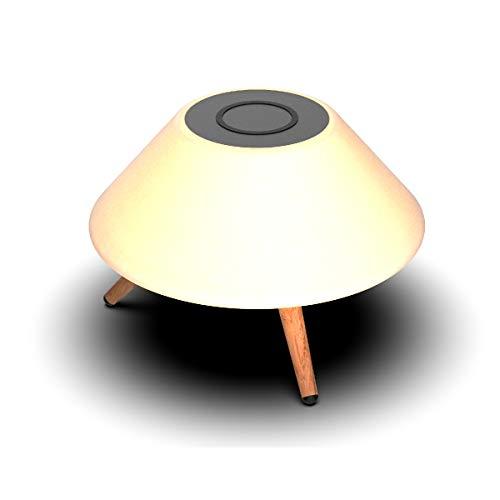 Lámpara KSIX con Cargador Inalámbrico y Altavoz Bluetooth Control Remoto y 7 Colores de luz