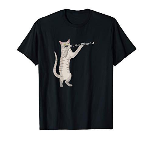 Clarinete Gato Regalo Músicos Gatito Amante Divertido Camiseta