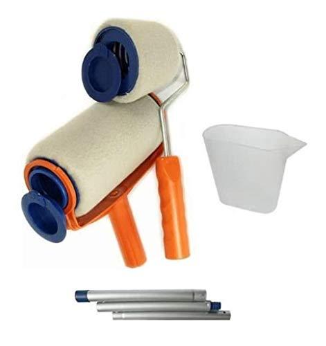 NEU Streichrolle mit Tank Behälter Verlängerungsstab - Intelligentes Streichsystem (tropfsicher) Streichroller Farbroller Farb Roller Malerkit Maler Kit - HUKITECH