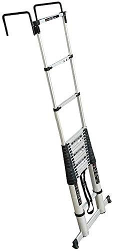 escalera 4 pelda/ños fabricada en aluminio portaherramientas ABS. Escalera plegable asa de transporte K/•Lutech escalera escalera calidad profesional