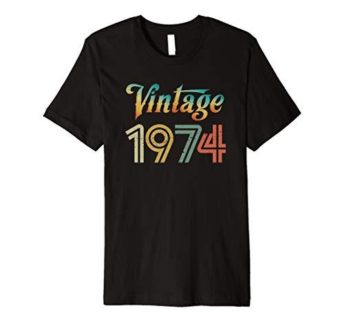 Vintage 1974 T Shirt Best Year 1974 Original Genuine Classic