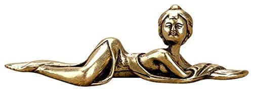 WQQLQX Statue Reine Kupferfigur Skulptur Alte Schönheit Statue Dekoration Messing Stift Halter Büro Desktop Dekoration Geschenk Handwerk Figuren Skulpturen