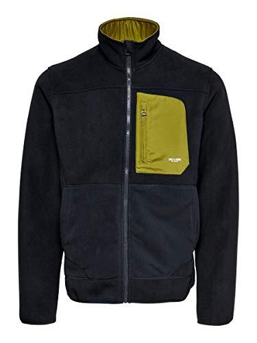 ONLY & SONS Herren ONSHIKE Fleece Jacket OTW Jacke, Dark Navy/Detail:W. FIR Green, S