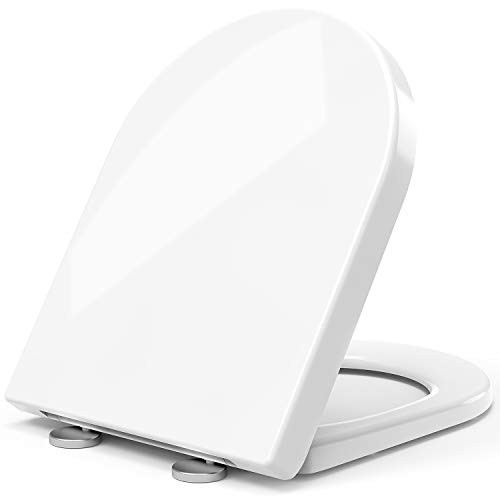 STOREMIC Toilet Seat Soft Close, Toilet Seats with Quick Release, Simple Top and...