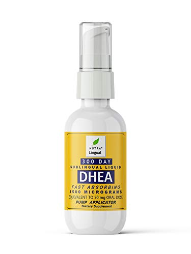 Fast Absorbing DHEA 1,500 mcg (Equivalent to 50 mg Oral Dose) 300 Day...