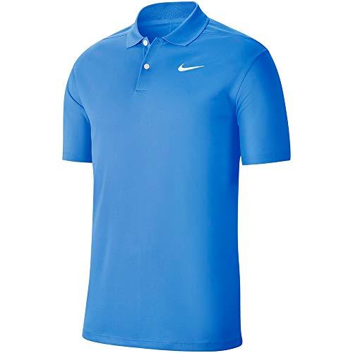 NIKE Men's Dri-fit Victory Polo Shirt, University Blue/White, M Mens