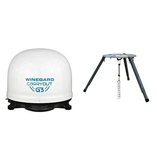 Winegard GM-9000 Carryout G3 Portable Automatic Satellite Antenna with Portable Tripod Mount