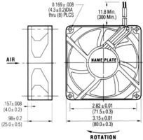 NMB TECHNOLOGIES 3110KL-05W-B30-D00 AXIAL FAN, 80MM, 24VDC, 80mA