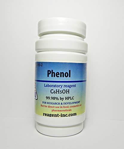Phenol, 99.98%, Analytical Reagent (ACS), 50 g