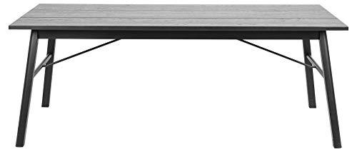 24Designs Verlengbare Tafel Split - 200/290x100x75 - Eiken Zwart Gebeitst Incl. 2 Verlengstukken