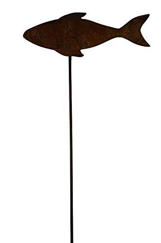 Decoración de metal para jardín - Figura de Pez - Ancho de 30 cm