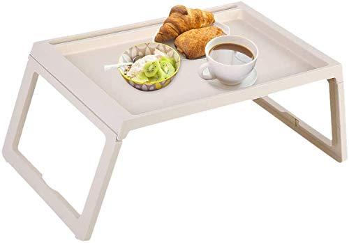 Greensen - Bandeja de cama para comer y portátil, bandeja plegable para desayuno, bandeja para aperitivos, bandejas de cama para comer, leer, trabajar, bandeja para computadora portátil en sofá cama