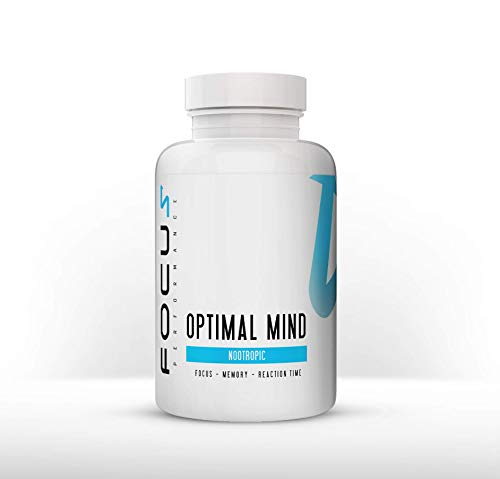 Focus Performance Optimal Mind, Nootropics Supplement, Brain Booster, Vitamins, Bacopa, Reishi Mushroom and Lion's Mane for Improved Memory, Mind Focus and Healthy Immune System | 120 Capsules