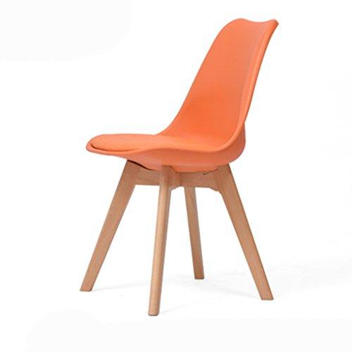 Kantoor Stoel Effen Hout bureaustoel Eenvoudige Moderne Terug Thuis Eetstoel Nordic Office Creatieve Eames Stoel 2