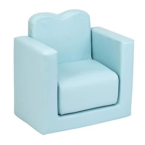 Sillón infantil multifuncional mini sofá 2 en 1, juego de mesa para niños y niñas (azul cielo, talla única)