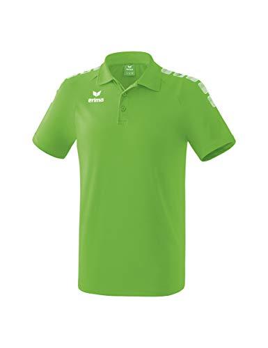 ERIMA Kinder Poloshirt Essential 5-C, green/weiß, 164, 2111905