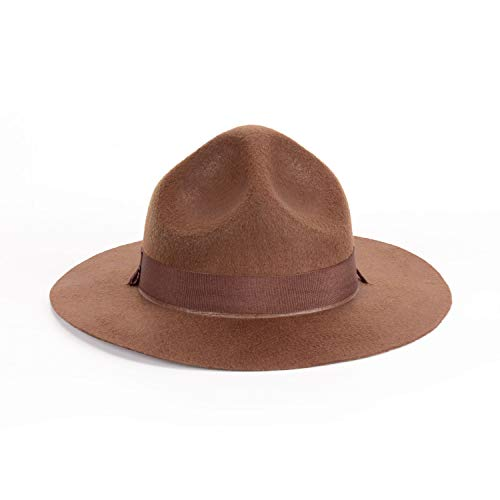 Yidamy Ranger Hat – braune Drill Sergeant Military Campaign Hat, groß