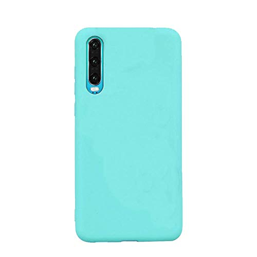 cuzz Funda para Samsung Galaxy A50+{Protector de Pantalla de Vidrio Templado} Carcasa Silicona Suave Gel Rasguño y Resistente Teléfono Móvil Cover-Azul Claro