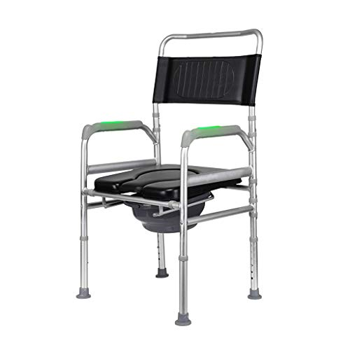 QDY-Bedside Commodes Adjustable Height Mobile Toilet for Pregnant Women, Easy to Use Foldable Toilet Chair Shower Transport Chair, The Best Gift to Elderly