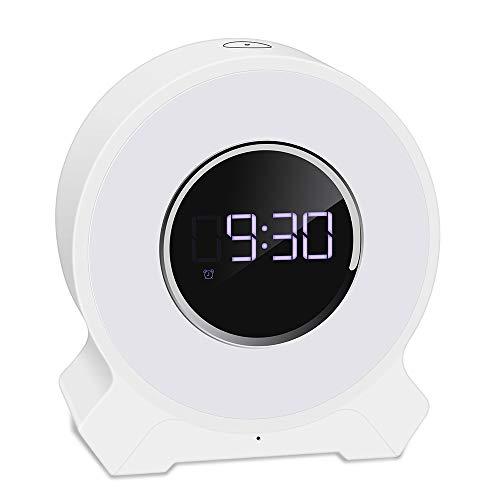 con Función De Alarma De Reloj, Lámpara De Escritorio De Audio Bluetooth, Reloj De Alarma Recargable USB Electrónico, Reloj Despertador LED Multifunción, Niños