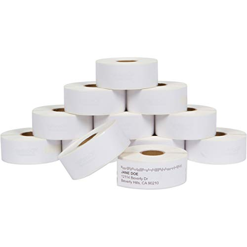 Dasher Products Address Labels Compatible with Dymo 30252 � 1-1/8'' x 3-1/2'', 12 rolls of 350 Labels, Self-Adhesive for Shipping, Barcode, UPC, Compatible with LabelWriter 4XL, 450, 450 Turbo, & More