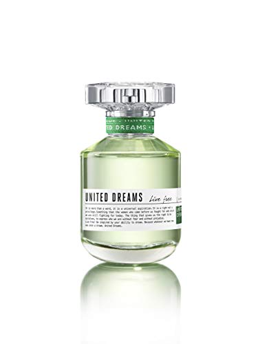 Benetton United Dreams Live Free Eau de Toilette Spray for Women, 2.7 Ounce