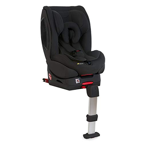 Hauck Varioguard Plus Reboard Autositz Gruppe 0 / 1 mit Isofix Base von Geburt bis 18 kg, 5-Punkt Gurt, Seitenaufprallschutz, verstellbare Kopfstütze, Liegeposition, Schwarz