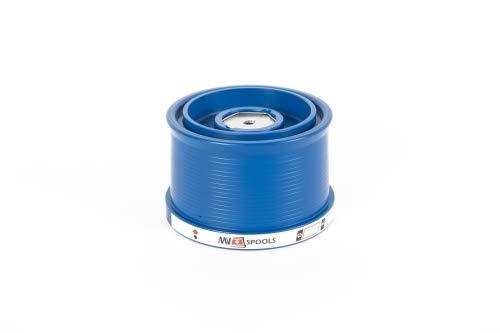 Mv Spools Bobinas y Accesorios compatibles con Carrete Shimano Fliegen SD 35 (2018) (Azul, 0.26/350m-0.30/300m-0.35/250m)