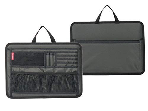 Briefcase Insert Organizer for Office File Document Storage (Gray)