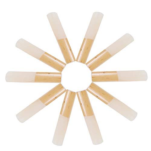 Flying Goose Blätter für Altsaxophon Stärke 2,5, Traditionelle Naturrohrrohre für Eb-Alt-Saxophon, Konsistent und einfach zu spielen, Schachtel mit 10 Stück mit einzelnem Kunststoffgehäuse