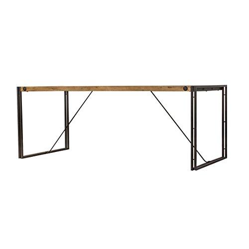 Meubletmoi Table Style Industriel/Structure métal et Plateau en Bois d'acacia / 200 x 90 cm/Facture et Finitions soignées – Collection Workshop