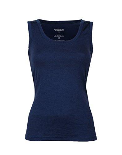 Dilling Thermo Unterhemd für Damen - aus 100% Merinowolle Dunkelblau 42
