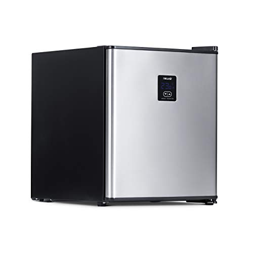 NewAir Froster 46 Can Freestanding Mini Beer Fridge in Stainless Steel with Frost-Free Glass Shelves, Chills Down to 23 Degrees