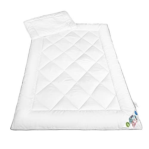 Meisterhome Kinder Bettdecken + Kissen Microfaser Öko-Tex Standard 100 Set 40 x 60 Kissen 100 x 135 Decke
