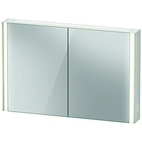 Preisvergleich Produktbild Duravit XViu XV7144 Spiegelschrank,  1220x156 mm,  2 Spiegeltüren,  Icon-Version,  Farbe (Front / Korpus): Schwarz Matt / verspiegelt
