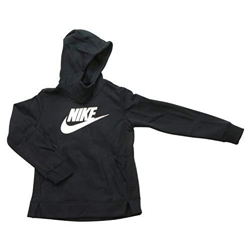 Nike Mädchen G NSW PE Pullover Sweatshirt, Black/(White), S